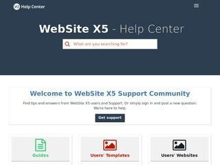 Website X5 Helpcenter